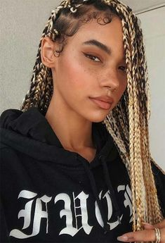 Keep reading for some major box braids inspo, from loose braids to half updos or messy ponytails, as well as the best practices to protect your hair while in braids! Big Box Braids Hairstyles, Black Girl Braided Hairstyles, Braided Hairstyles For Wedding, Baddie Hairstyles, Protective Hairstyles, Long Curly Hair, Curly Hair Styles, Natural Hair Styles, Blonde Box Braids