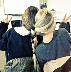 Best Friends Braid Their Hair Together!