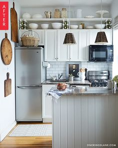 Breathtaking Affordable Kitchen Transformations | Think you can't afford a new kitchen? Think again! These five budget kitchen renovations prove that you don't need a ton of cash to get a new look in your kitchen — just a lot of elbow grease (and a little bit of creativity).