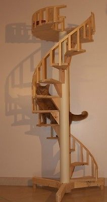 Spiral Cat Trees/Stairs - Real Cabinet-Grade Pine, handmade in USA