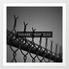 Choose your Side Art Print by Pepe Rodriguez Perception, Photo Ideas, Photographs, Sad, Art Prints, Shots Ideas, Art Impressions, Photos