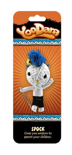 YooDara Good Luck Charms - Spock gives you wisdom to parent your children. #voodoo doll #string doll