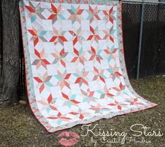 Moda Bake Shop: Kissing Stars Quilt-one layer cake and one charm pack for the stars.  Would be cool in scraps, too.