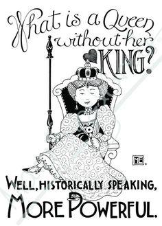 Queen without King Engeldark Card