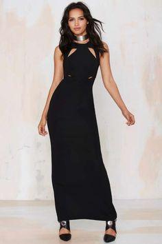 Line & Dot Column Cutout Dress