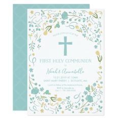 First Holy Communion Invitation - Boy and/or Girl - invitations custom unique diy personalize occasions