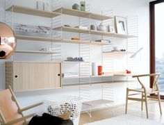 string system modern interior design shelving systems storage shelving wire shelves