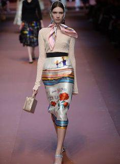 Dolce & Gabbana inverno 2015 Foto: FILIPPO MONTEFORTE / AFP