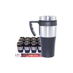 24 Units of Coffee Mug Insulated with Handle - Coffee Mugs Wholesale Coffee Mugs, Disposable Coffee Cups, Stainless Steel Thermos, Cute Coffee Mugs, Coffee Maker, Handle, The Unit, Tableware, Coffee Maker Machine