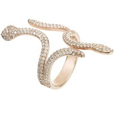 Cleopatra snake cocktail ring rosegold (9.100 RUB) ❤ liked on Polyvore featuring jewelry, rings, cocktail rings, rose gold rings, rose gold pave ring, rose gold cocktail ring and pave ring