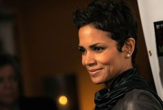 halle berry shag short haircut side view