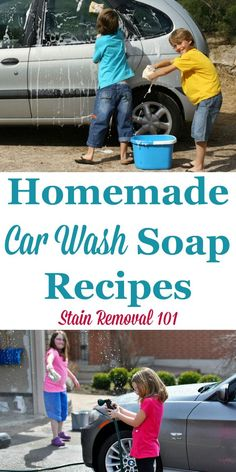 Multiple homemade car wash soap recipes {on Stain Removal 101} #HomemadeCleaners #CarCare #CarWashSoap Diy Car Wash Soap, Homemade Car Wash Soap, Homemade Cleaning Products, Diy Vehicle Soap, Deep Cleaning Tips, House Cleaning Tips, Car Cleaning, Cleaning Hacks, Cleaning