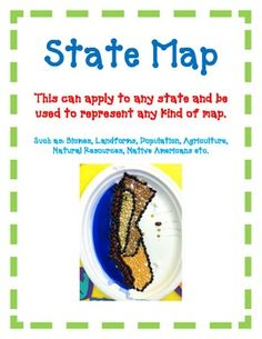 State MapThis can apply to any state and be used to represent any kind of map such as: Biomes, Landforms, Population, Agriculture, Natural Resources, Native Americans etc.The students will never forget their Biomes, Landforms, Population, Agriculture, or Natural Resources again!