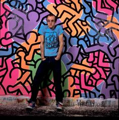 Keith Haring in his studio, New York City, 1985. Photo by Janette Beckman © Getty Images
