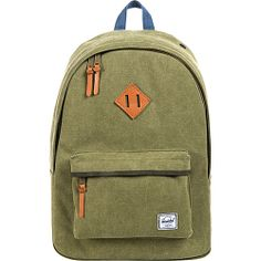 #Backpacks, #HerschelSupplyCo, #LaptopBackpacks - Herschel Supply Co. Woodlands Canvas Washed Army / Navy - Herschel Supply Co. Laptop Backpacks