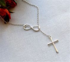 Silver Infinity Cross Necklace – The Needed Necklace