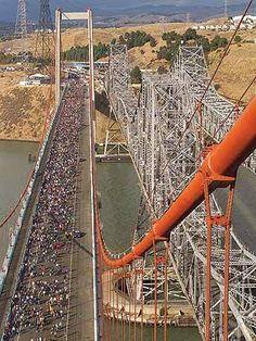 Carquinez Bridge (northern California) - aerial view