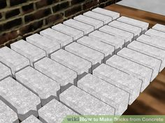 How to Make Bricks from Concrete. Bricks have been primarily used for wall coverings over the years, but they can be used for decorative purposes as well. Historically, the common brick has been molded from clay and fired in a kiln, but. Concrete Paver Mold, Concrete Block Walls, Concrete Crafts, Cement Steps, Plaster Crafts, Concrete Table, Brick Molding, Diy Molding, Trailer Casa