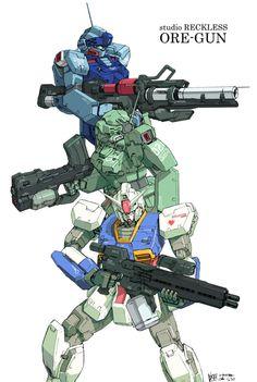 Gundam and other mobile suit Arte Gundam, Gundam Art, Gundam Toys, Arte Robot, Robot Art, Cyberpunk, Mecha Suit, Robot Illustration, Gundam Wallpapers