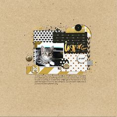 Ideas for a Black and Gold Scrapbook Page Color Scheme | Celeste Smith | Get It Scrapped