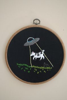 Got Miiiiilk - Alien Abduction Embroidery