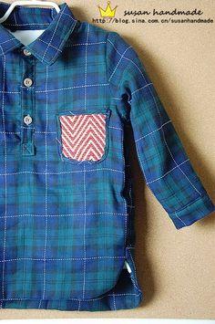 6fcf51f8ac Como hacer una camisa manga larga para niños