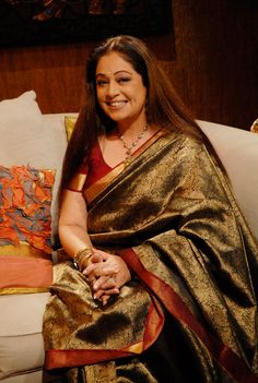 Kiron Kher when her hair used to be always loose. Description by Pinner Mahua Roy Chowdhury
