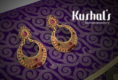 #Silver #TempleJewellery from #Kushals #FashionJewellery #Earrings Design No 50191