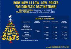 PalExpress Christmas Promos Manila to Luzon for as Low as P398
