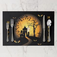 #Halloween - Haunting Eyes Watching You Placemat - #halloween #party #decor #ideas #celebrate #diy