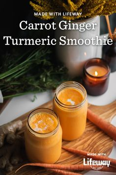 These anti-inflammatory superfoods, along with the immune-supporting nutrients found in our kefir, may help reduce inflammation and support the microbiome. Red Carrot, Carrot And Ginger, Kefir How To Make, Farmers Cheese, Turmeric Smoothie, Healthy Eyes, Vitamin K, Reduce Inflammation, Original Recipe