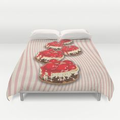Cherry Cheesecake Duvet Cover by Tees2go - $99.00