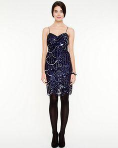 Print design - Le Château: Sequin V-neck Dress