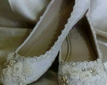 Ballet Flats, Wedding Flats, bride shoes, First Communion, christening shoes, zapatillas para novia, zapatos boda,