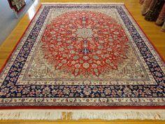 CHINESE RUG Isfahan Oriental Rug 8' x 9' 11 by LesniakOrientalRugs, $1600.00