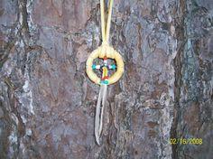 FREE SHIPPING  Handmade Medicine Wheel Pendant by ElusiveWolf, $14.29