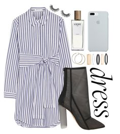 """stripey"" by ali-sxn ❤ liked on Polyvore featuring T By Alexander Wang, Loewe, Velour Lashes, ETUÍ, Accessorize, cute, contest, tumblr and easydresses"