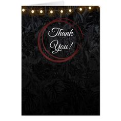 Modern Chic Black Red Wine Rings Classy Thank You Card - wedding party gifts equipment accessories ideas