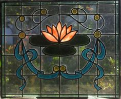 'A Dutch Art-Deco' 67 x 81 cm Stained Glass Window  (came)