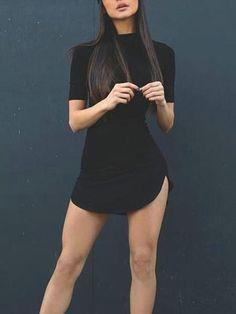 Women Causal Summer Dresses Cotton Black/White Open Side Beach Dress Robe Femme Jurken Vestidos Black S Look Fashion, Fashion Outfits, Womens Fashion, Fashion Trends, Ladies Fashion, Dress Fashion, Fashion Usa, Fashion Clothes, Fashion News