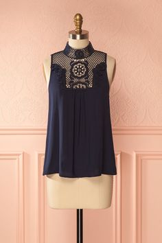 Arata Eau from Boutique 1861 Online Fashion Boutique, Bleu Marine, Summer Wardrobe, Navy Tops, Classy Outfits, Creations, Tunic Tops, Couture, Victorian Era