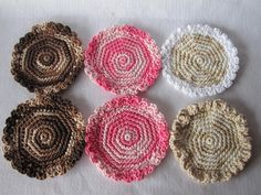 Crochet Coasters - just pix - done in thread