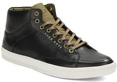 Hugo Boss Attolaser Leather Lace-Up Sneakers