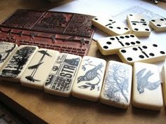 Stamped dominoes would make a great gift!