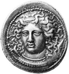 Arethusa: portrait coins