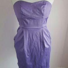 Strapless lavender  dress Strapless two pocket dress Forever 21 Dresses Strapless