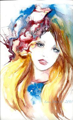 Original Watercolor by Lana Moes