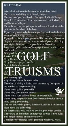 Golf Truisms! I Rock Bottom Golf #rockbottomgolf: