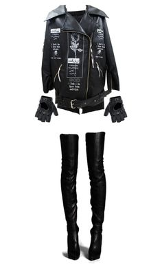 """""""Black"""" by beatricewolf ❤ liked on Polyvore featuring River Island and FRACOMINA"""