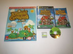 Animal Crossing Nintendo Gamecube COMPLETE w/ Memory Card 59 & Strategy Guide